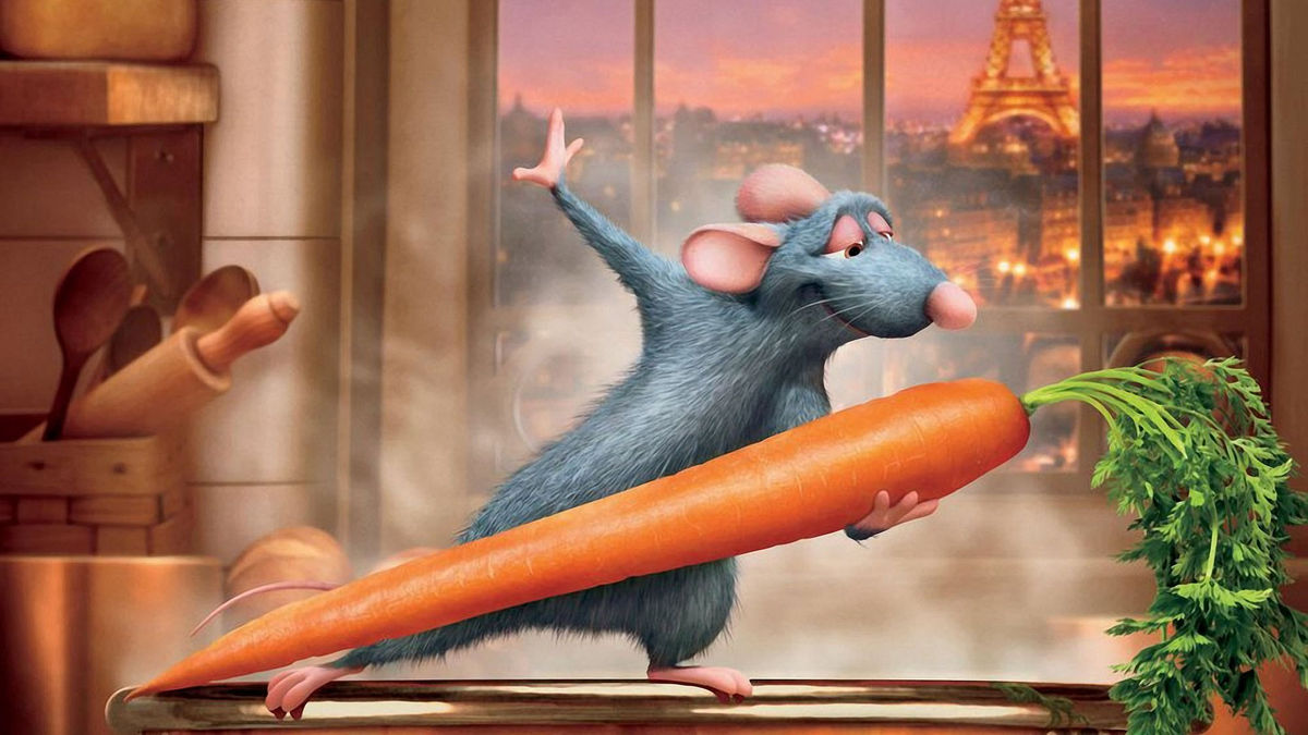 rat dancing with a carrot?! Strange!!